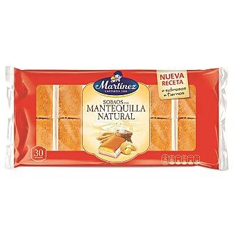 Martinez Sobaos con mantequilla natural Bandeja 600 g (30 unidades)