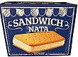 Helado sandwich nata Caja 12 u Hacendado