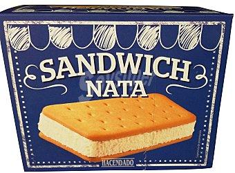 Hacendado Helado sandwich nata Caja 12 u