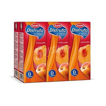 Juver-Disfruta Néctar de melocotón sin azúcar añadido Pack de 6x20 cl