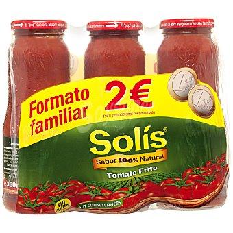 Solís Tomate frito frasco 3 x 360 gr