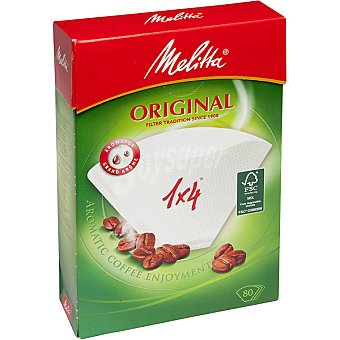 MELITTA Original Filtro de papel para café 1 x 4 paquete 80 unidades