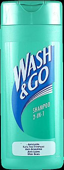 Wash&go Champú 2en1 anticaspa Bote 300 ml