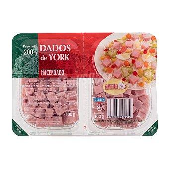 Hacendado Jamon cocido taquitos Pack 2 x 100 g - 200 g
