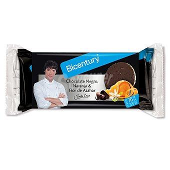Bicentury Tortita arroz chocolate negro naranja & azahar 132 g