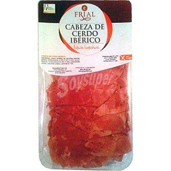 Frial Cabeza de cerdo ibérico en finas lonchas sin gluten Envase 150 g