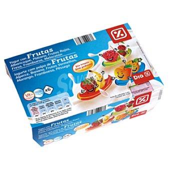 DIA Yogur con frutas Pack 6 unidades 100 g