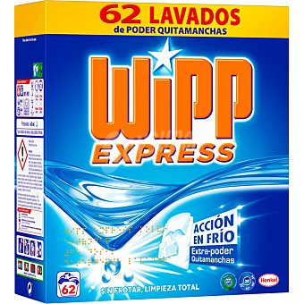 Wipp Express Detergente en polvo Maleta 62 dosis