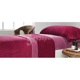 CASACTUAL Coralina bicolor juego de cama en color malva para cama 135 cm
