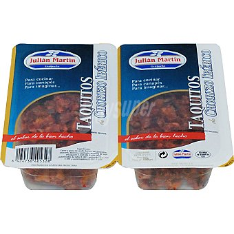 JULIAN MARTIN Taquitos de chorizo ibérico Pack 2 envases 75 g