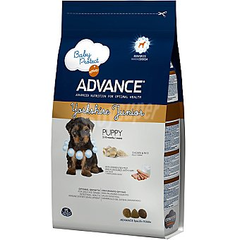 ADVANCE Yorkshire Terrier Puppy Alimento especial para cachorros con yogur y sabor a jamón cocido Bolsa 1,5 kg