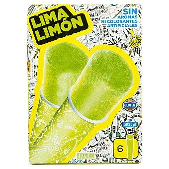 Hacendado Helado hielo flip-flap lima limón  Caja de 6 u