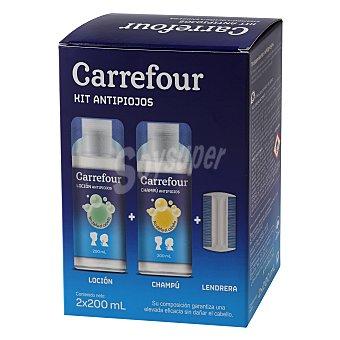Carrefour Kit antipiojos champú + loción 2 x 200 ml 1 ud