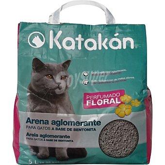 KATAKÁN Arena para gatos a base de bentonita con perfume floral Bolsa 5 l