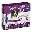Pipetas desparasitantes para perros medianos 10-25 kg caja 3 unidades 3,6 ml 3 d Vectra