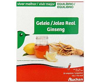 Auchan Jalea real de ginseng (complemento alimenticio) 10 unidades