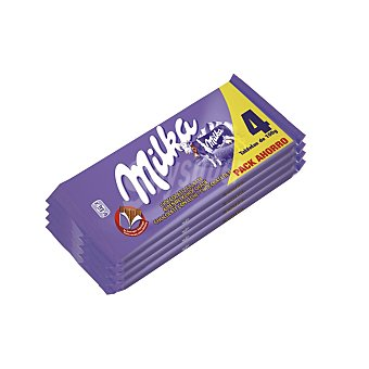 Milka Chocolate con leche Pack 4x100 g