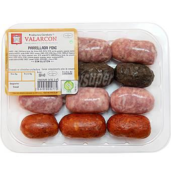 VALARCON Parrillada mini de longaniza, chorizo y morcilla bandeja 400 g peso aproximado
