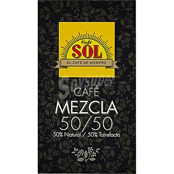 Sol Café molido mezcla 50-50 Paquete 250 g