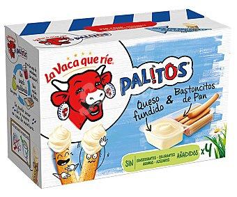 La Vaca Que Ríe Palitos Queso fundido con bastoncitos de pan palitos Pack 4 uds.x 35 g