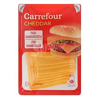 Carrefour Queso cheddar en lonchas 200 g