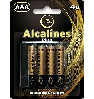 Condis Pilas LR03 alcalinas 4 UNI