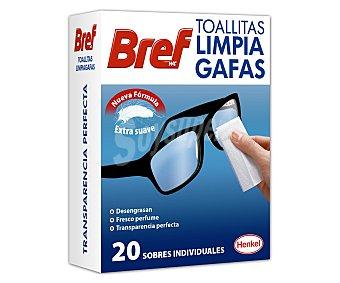 Bref WC Toallitas especiales para limpieza de gafas 10 uds