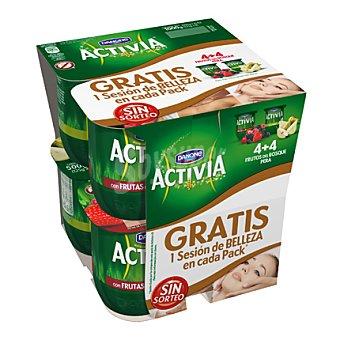 Danone - Activia Yogur 4 frutas del bosque + 4 pera Danone pack de 8x125 g