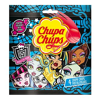 Chupa Chups Caramelo con palo Monster High 4 ud