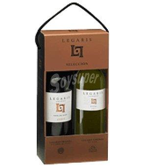 Legaris Estuche de vino tinto crianza D.O. Ribera del Duero + verdejo D.O. Rueda pack de 2x75 cl