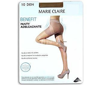 MARIE CLAIRE Benefit Panty fino adelgazante 10 den color maquillaje, talla M