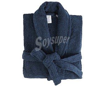 Actuel Albornoz para adulto color azul marino, 100% algodón, 380g/m², talla M actuel. 380 g