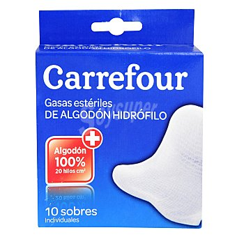 Carrefour Gasas estériles 10 ud