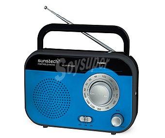 Sunstech rp SS560BL Radio de sobremesa analógica, con sintonizador de radio am/fm, altavoz integrado, color azul