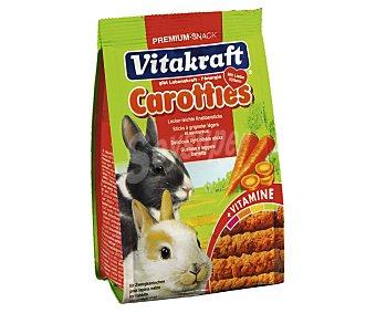 Vitakraft Carotties snack conejo, divertidas barritas con zanahoria 50 gramos