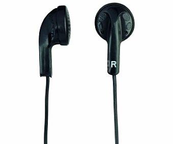 Selecline Auriculares tipo Botón (producto económico alcampo) negro, con cable HF3E114
