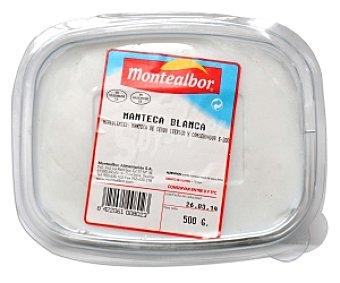Montealbor Manteca blanca Bandeja de 500 Gramos