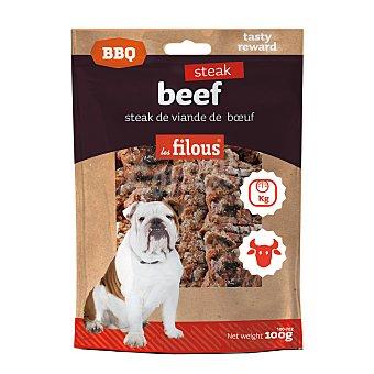 Les filous Snack para perros adultos Les Filous Bistec buey barbacoa 100 gr