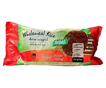 Santiveri Tortitas de arroz integral bañadas de chocolate negro envase 120 g 8 unidades