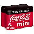 Refresco de cola zero azúcar Pack 6 latas x 25 cl (1,5 l) Coca-Cola Zero