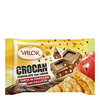 Valor Chocolate con leche de tarta de manzana con galleta 100 g