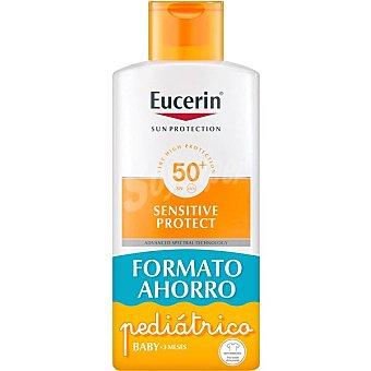 Eucerin Sun protection Kids loción solar infantil SPF 50+ para piel sensible + Pocket Size 50 ml de regalo Frasco 400 ml