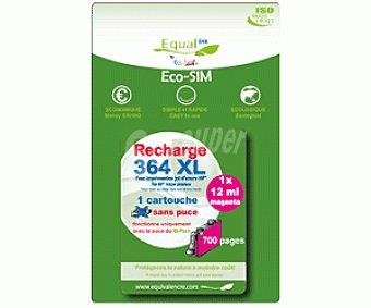 Equalink Cartuchos Reciclados de Tinta H364XL Magenta 1u