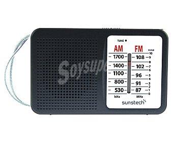 Sunstech RPS411BK Radio portátil con altavoz, AM/FM, salida auriculares.