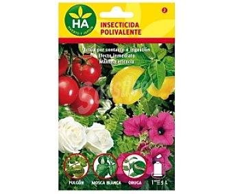 HA-Huerto y Jardín Insecticida polivalente soluble, sobre para preparar 5 Litros 20 Mililitros