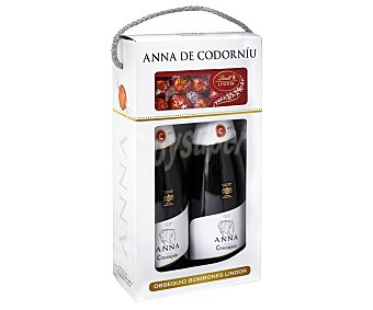Anna de Codorníu Cava brut elaborado siguiendo el método tradicional + bombones lindor 2 x 75 cl