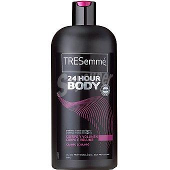 Tresemmé Champú 24 horas Extra Volumen con proteínas de seda y colágeno frasco 750 ml cuerpo y volumen para cabello normal Frasco 750 ml