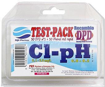 Pqs Caja con recambios de pastillas para analizar el Cloro Libre y cintas para analizar el PH de tu piscina y mantenerlos en unos niveles adecuados para el baño 1 unidad