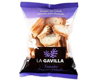 La Gavilla Mini tostadas de pan con cebolla, especiales para ahumados 80 g