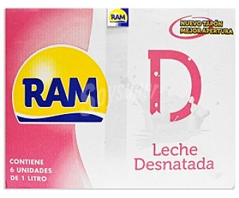 Ram Leche desnatada 6x1L